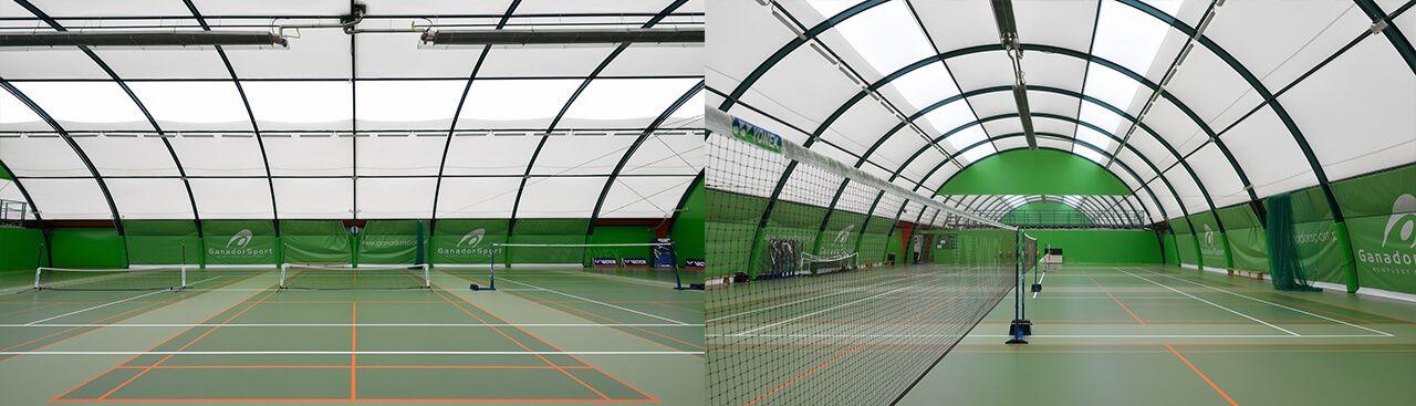 Sport Halls s.c. Canchas de tenis arqueadas de medio barril